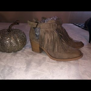 Maurices fringe booties size 7